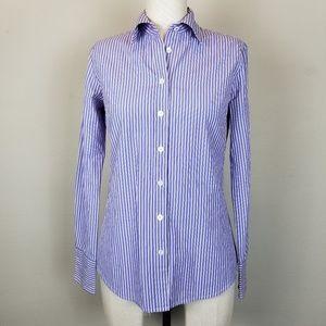 J.CREW Button up Slim Fit Striped Shirt Blouse